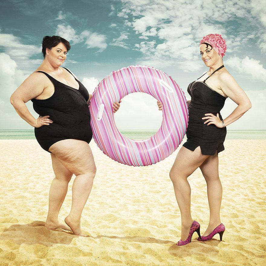 donna grassa e donna magra